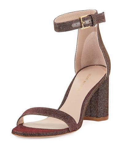 LessNudist Metallic Fabric Sandal