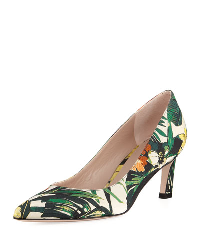 Chicory Botanic Jacquard Low-Heel Pump