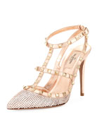 Rockstud Liquid Metal Sequin Pump