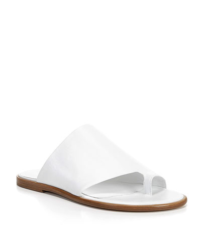 Edris Flat Leather Slide Sandal