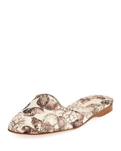 Muletown Seashell Jacquard Slide Mule