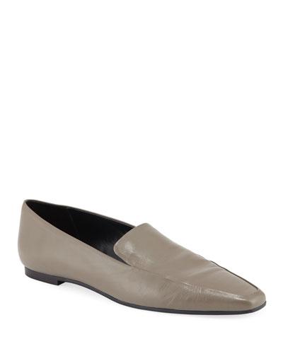 Minimal Leather Flat Loafer