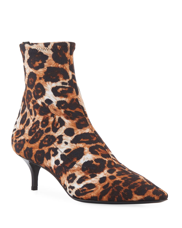 Leopard-Print Neoprene Bootie