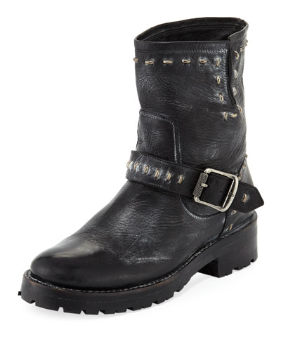 Natalie Lugged Rebel Moto Boot