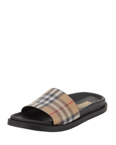 e976da4abd36 Quick Look. Burberry · English Icons Vintage Check Slide Sandal. Available  in Antique Yellow