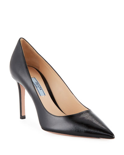 Patent Saffiano Leather 85mm Pumps