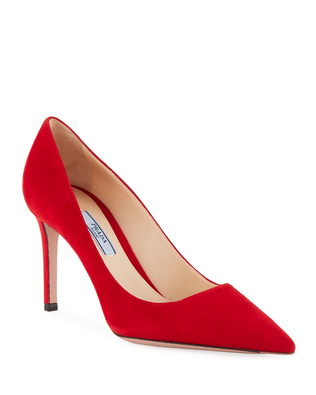 Suede Point-Toe 85mm Pumps