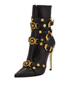 Tribute Medallion Buckle Bootie
