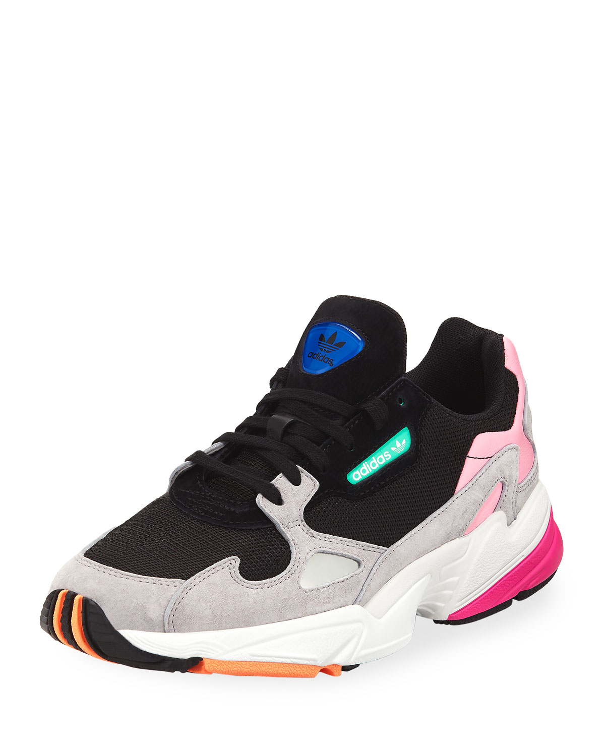 4f54ec7fad1 Adidas Originals Women s Falcon Color-Block Lace Up Sneakers In Black  Black   Light