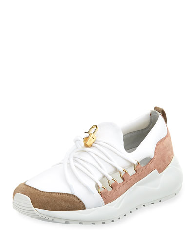 Run1 Cut Neoprene Lace-Up Sneaker