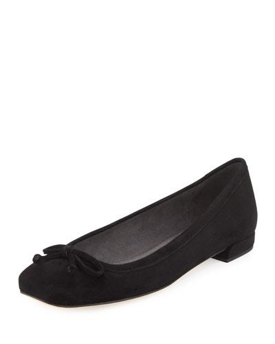 Shoestring Suede Ballerina Flat