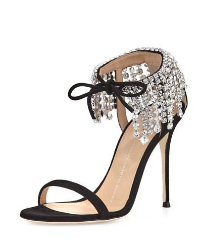 Mistico Crystal Ankle-Wrap 105mm Sandal