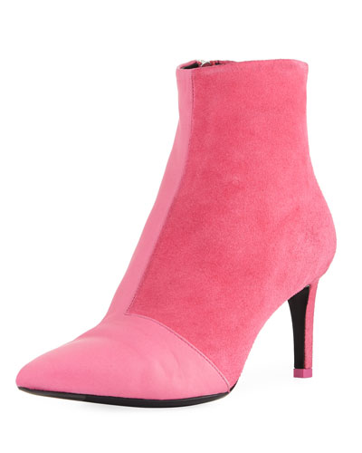 Beha Mixed Leather & Suede Zip-Up Boot