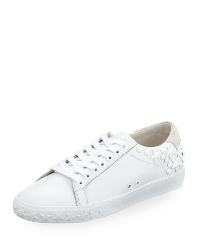 Dazed Calf Sneaker with Star Studs