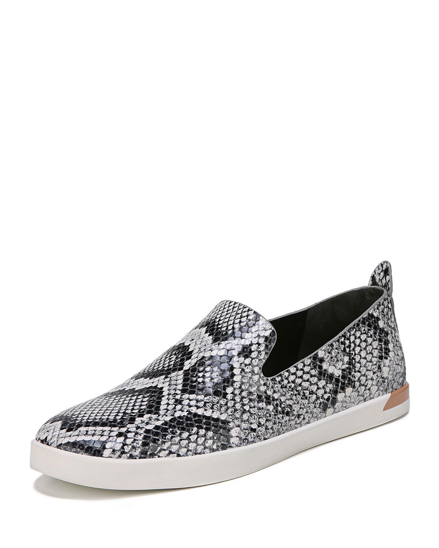 Vero Snake-Print Leather Slip-On Sneaker