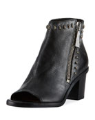 Brielle Rebel Zip Stud Bootie