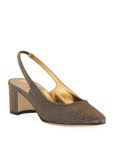 Allurasa Fabric Slingback Pumps