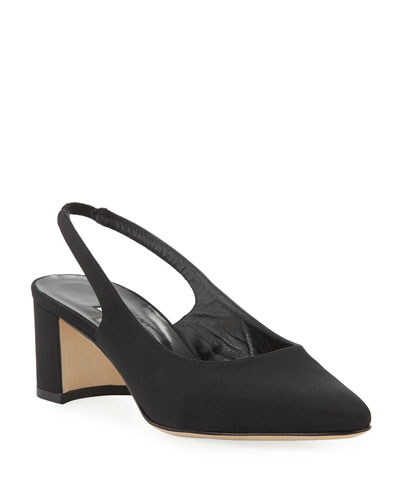 Allurasa Fabric Slingback Pumps, Black