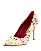 BB 90mm Dot Painted Canvas Pump