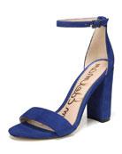 Yaro Suede Chunky-Heel Sandal