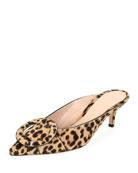 Leopard-Print Calf Hair Mule Slide
