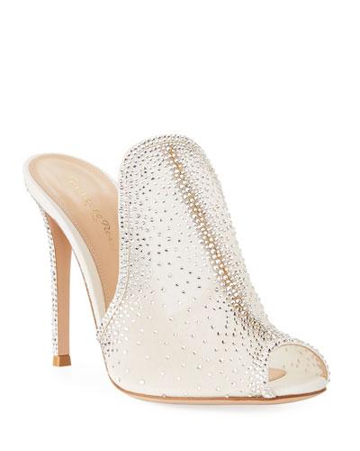 Organza Lace Strass Mule Sandal