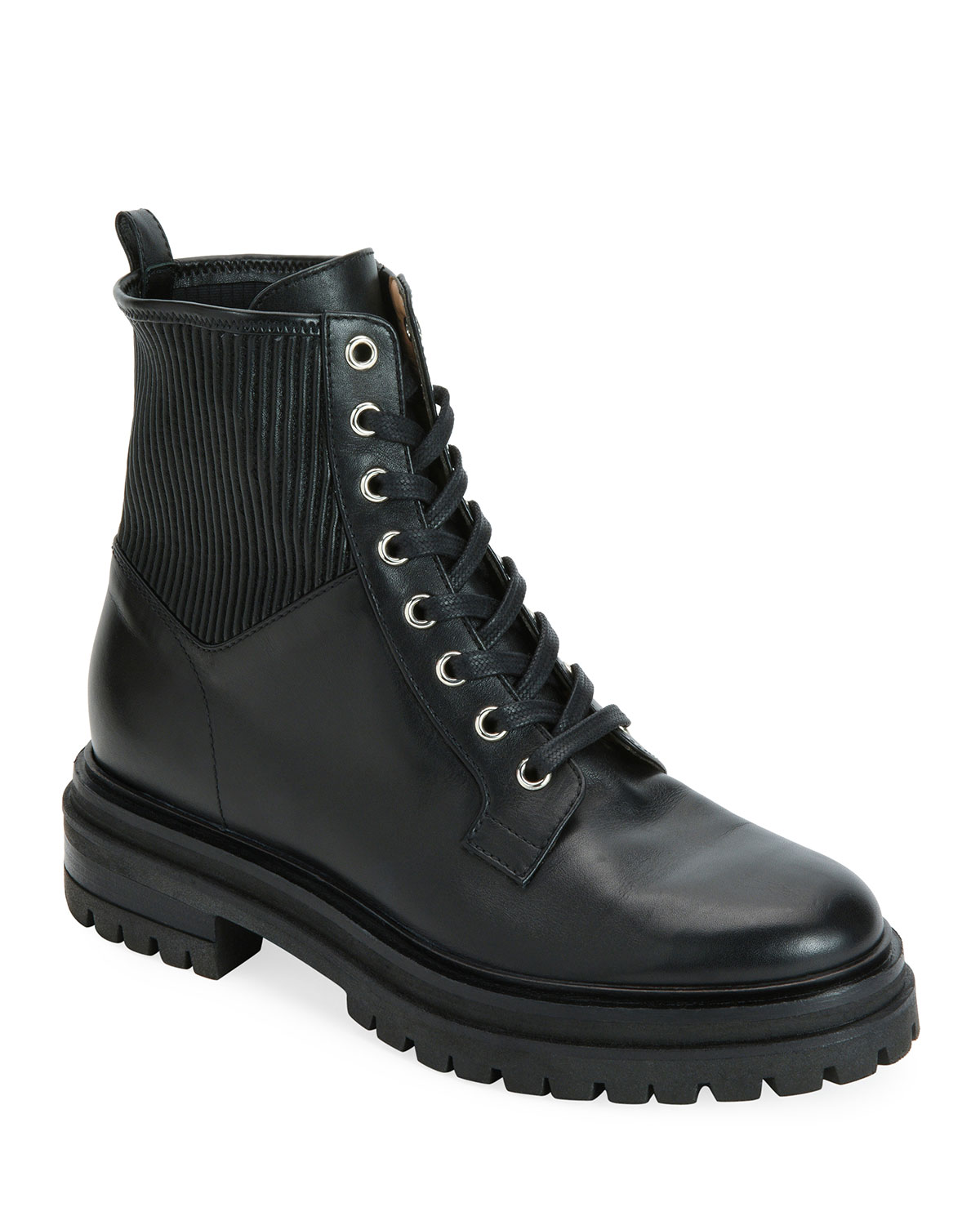 MARTIS LEATHER COMBAT BOOTS