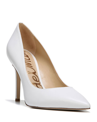 Hazel Napa Leather Pointed-Toe Pump