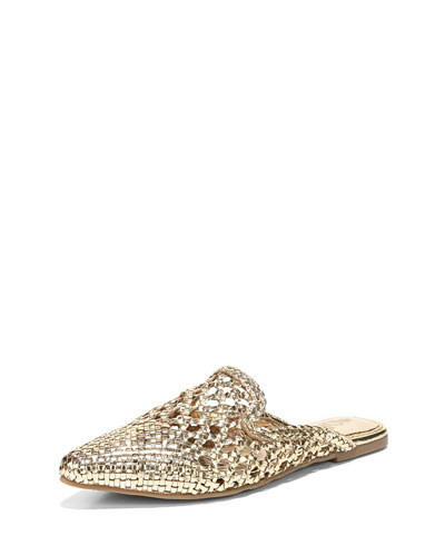 Navya Pointed Woven Mule Flat