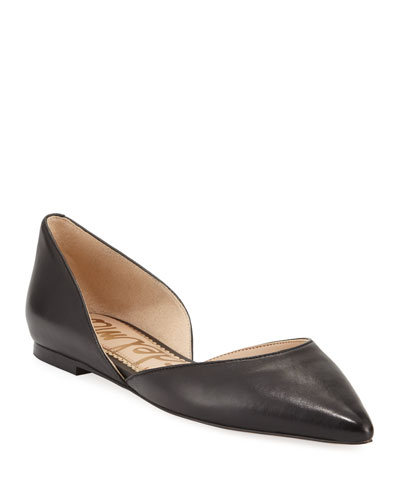 Rodney Pointed-Toe Leather Flat