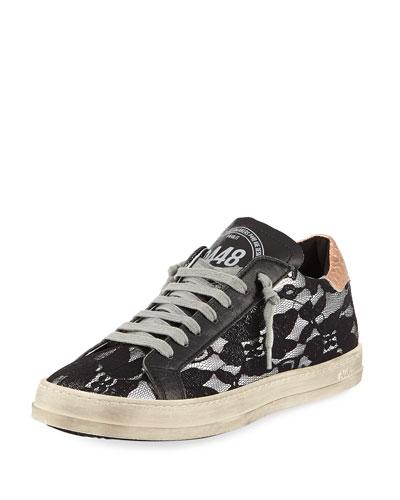 Lace Platform Low-Top Sneaker