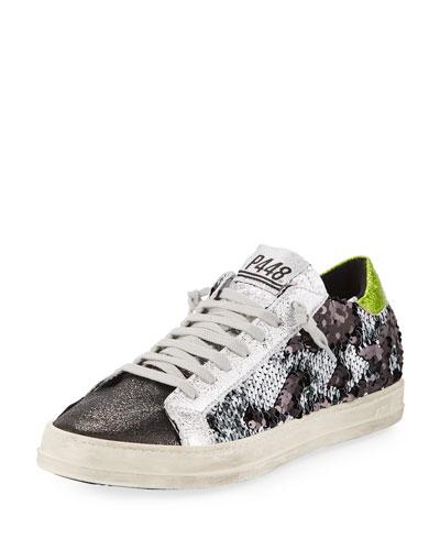 Sequined Low-Top Sneaker