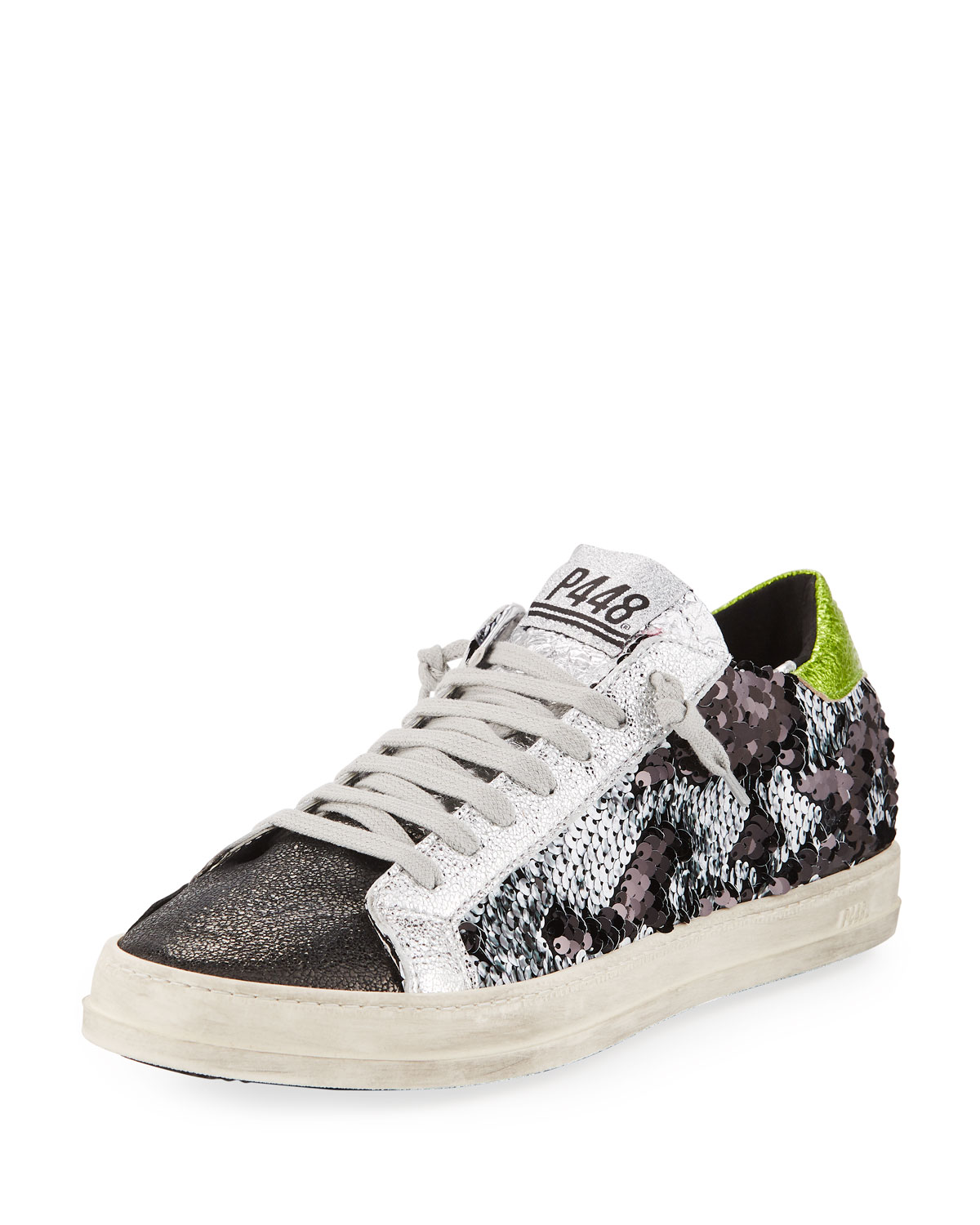 Sequined Low-Top Sneaker