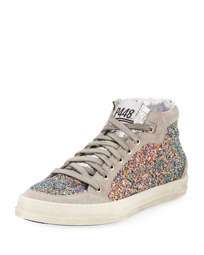 Glittered High-Top Sneaker
