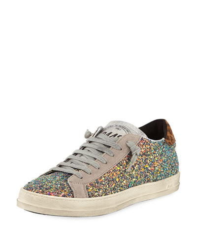 John Glitter Platform Low-Top Sneakers