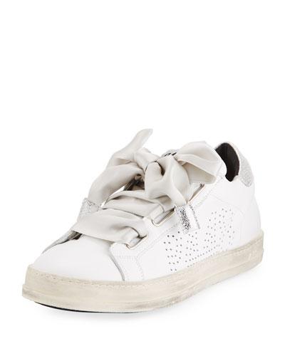 Leather Platform Low-Top Sneaker
