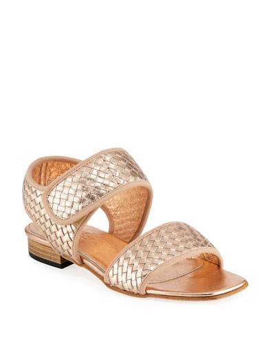 2e5ab1fdad6690 Quick Look. Sesto Meucci · Gryta Woven Metallic Napa Leather Flat Sandal