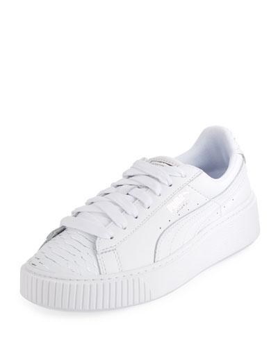 White Metallic Sneaker   Neiman Marcus bf3617ec5eb3