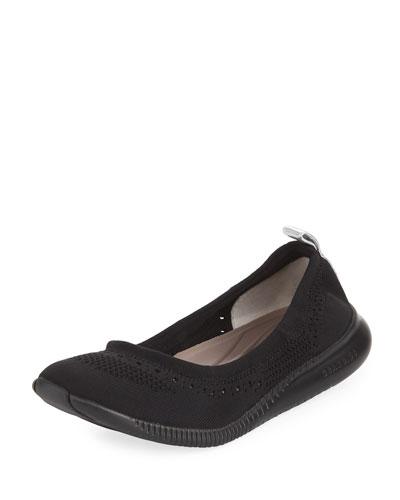 ZeroGrand Stitchlite™ Ballerina Flat, Black