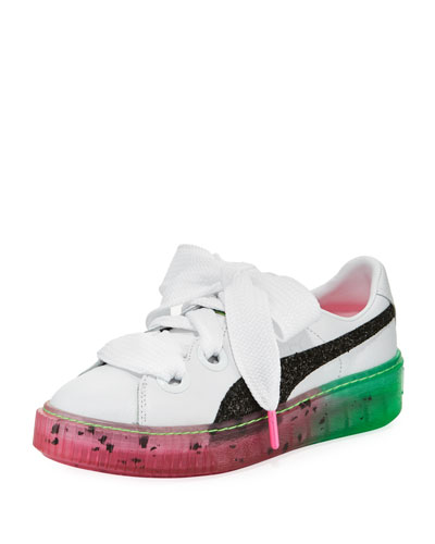 x Sophia Webster Candy Princess Leather Sneakers