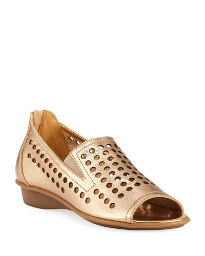 Ellen Perforated Comfort Slip-On Flat