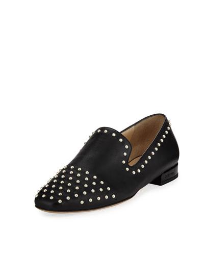 Jaida Flat Studded Leather Loafer