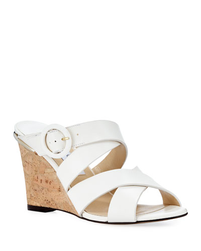 3d5e61c78b14 Quick Look. Jimmy Choo · Delila Vachetta Leather Wedge Slide Sandal