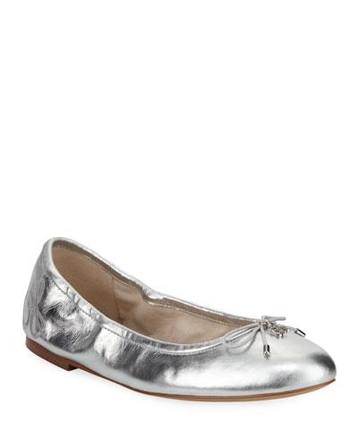 Felicia Classic Metallic Ballerina Flat