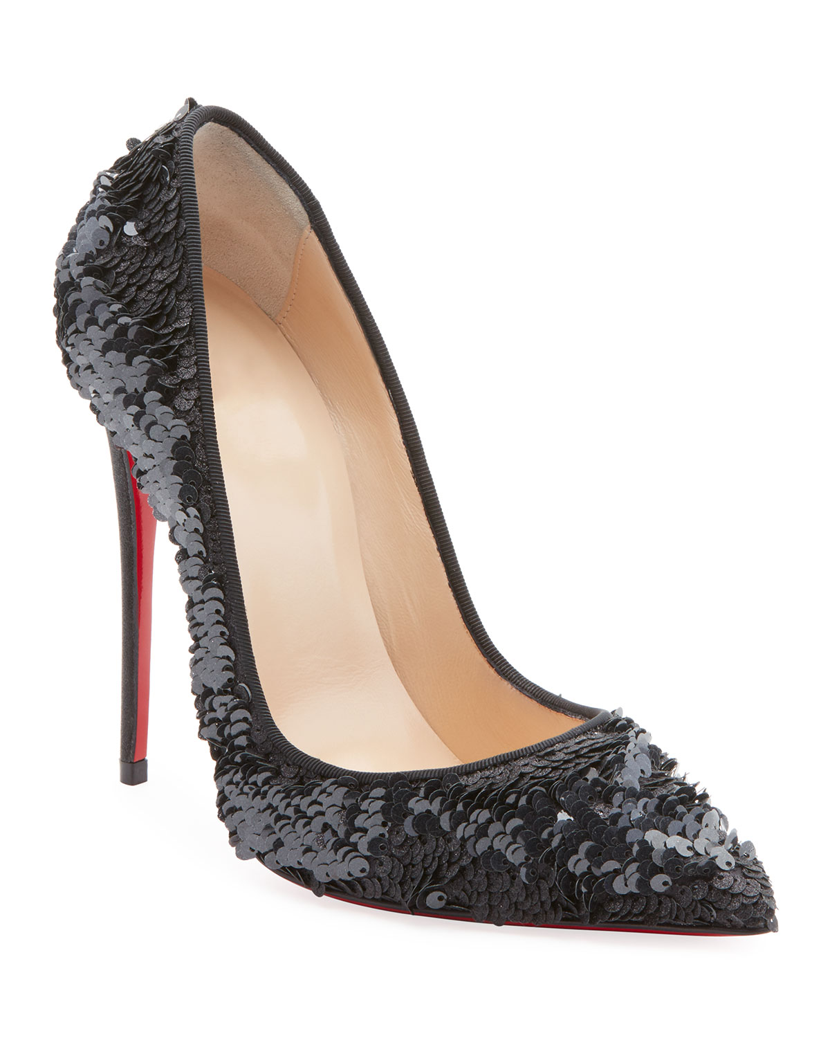 CHRISTIAN LOUBOUTIN SO KATE 120MM SEQUIN RED SOLE PUMP