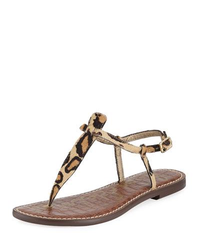 Gigi Nude New Leopard Sandal