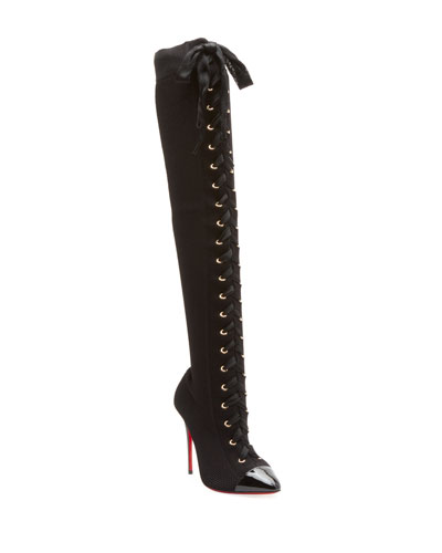 c5de4196e347 Quick Look. Christian Louboutin · Frenchie Over-The-Knee Red Sole Boots.  Available in Black
