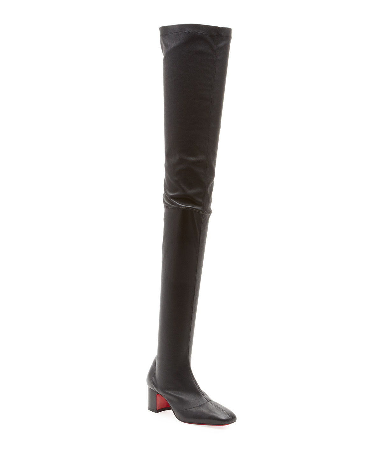 CHRISTIAN LOUBOUTIN SURSAMOTO NAPA RED SOLE OVER-THE-KNEE BOOT