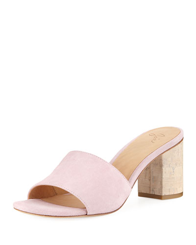 Tapford Suede Slide Sandal with Cork Heel