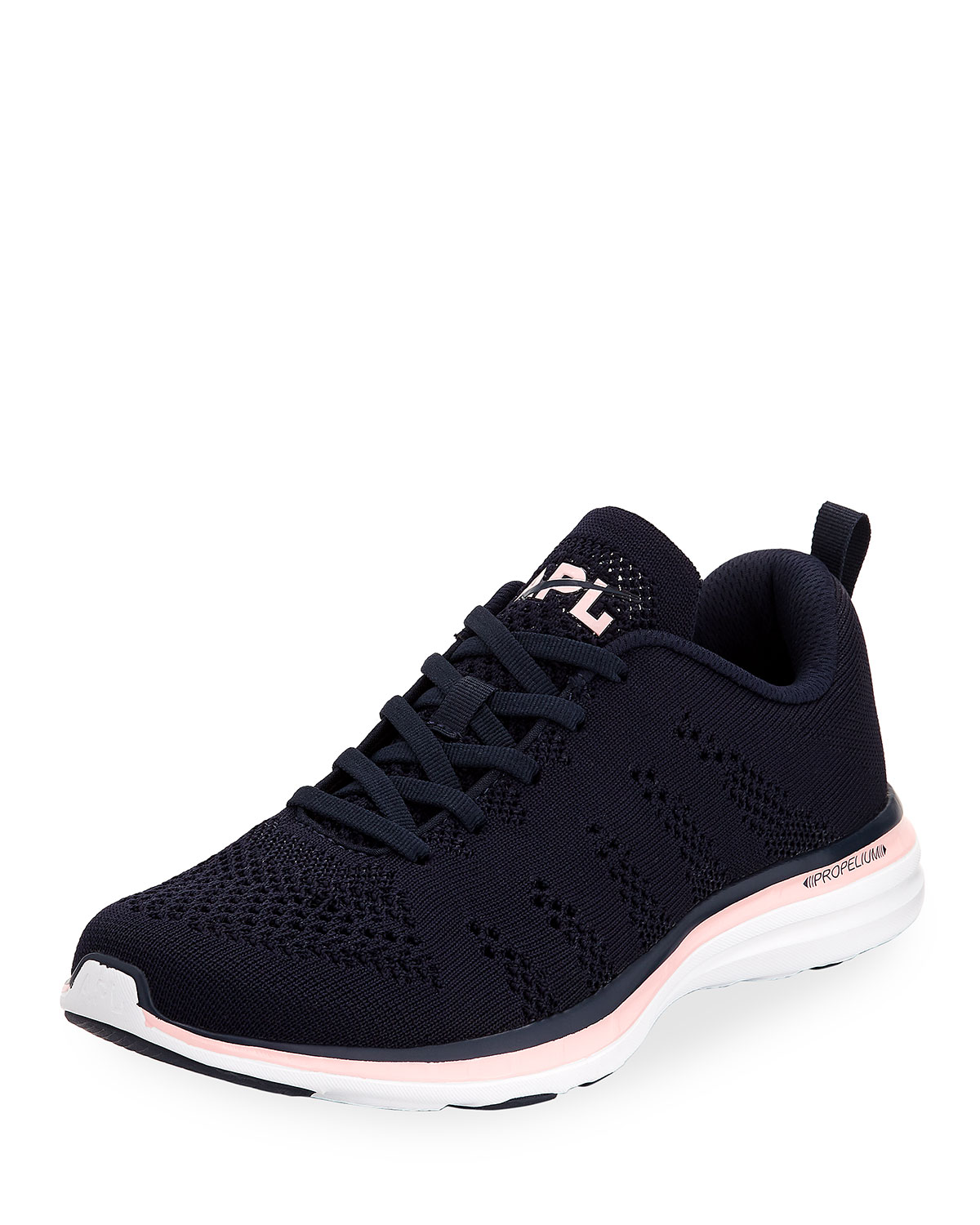 Athletic Propulsion Labs Women'S Techloom Pro Knit Low-Top Sneakers in Midnight Gos Pink